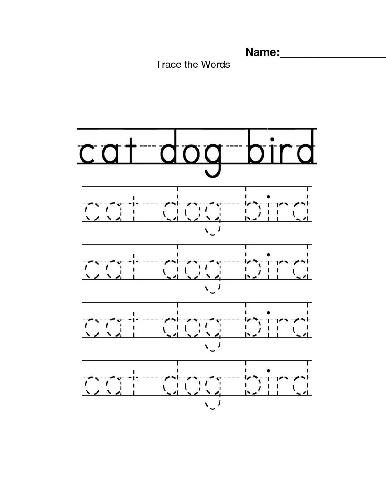 name-trace-worksheet-dog