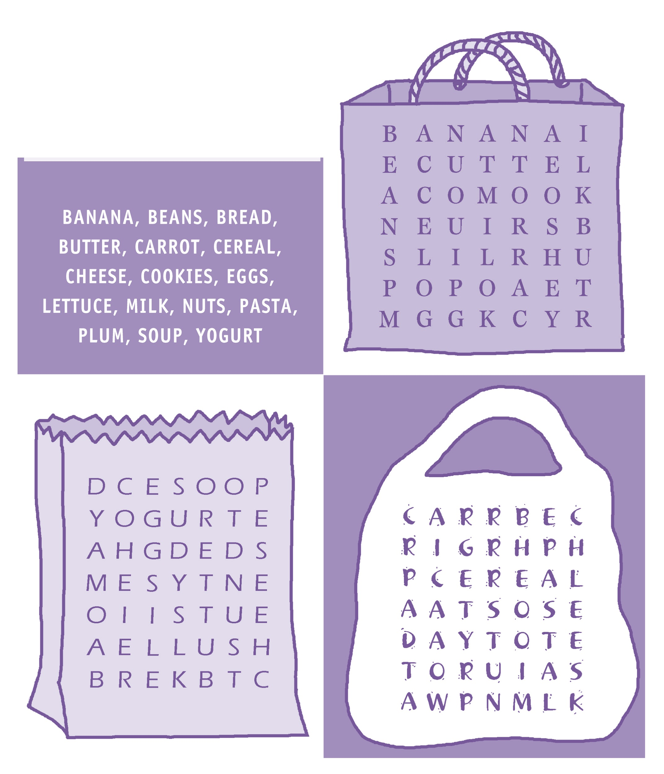 word-searches-for-kids-food