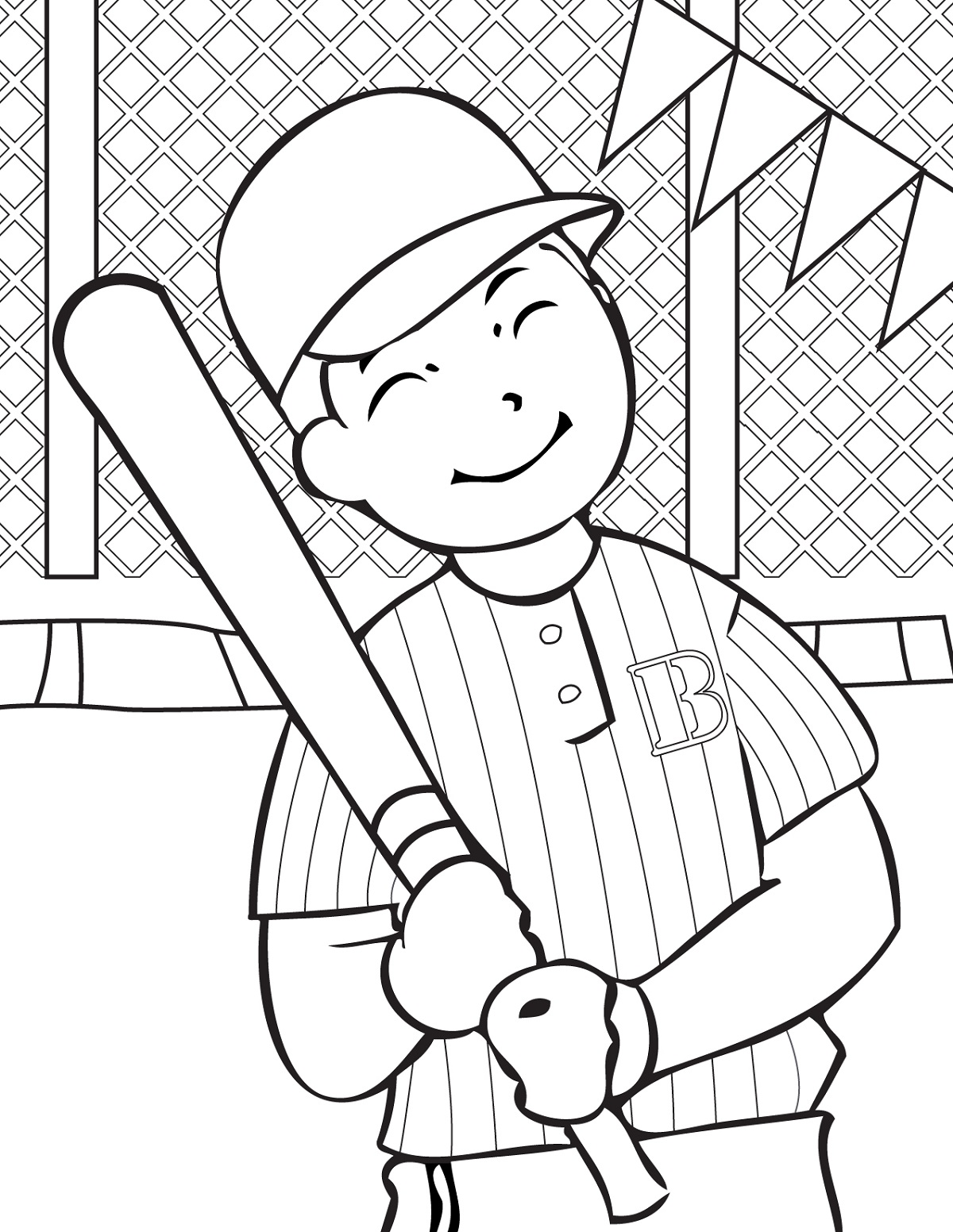 baseball-color-pages-fun