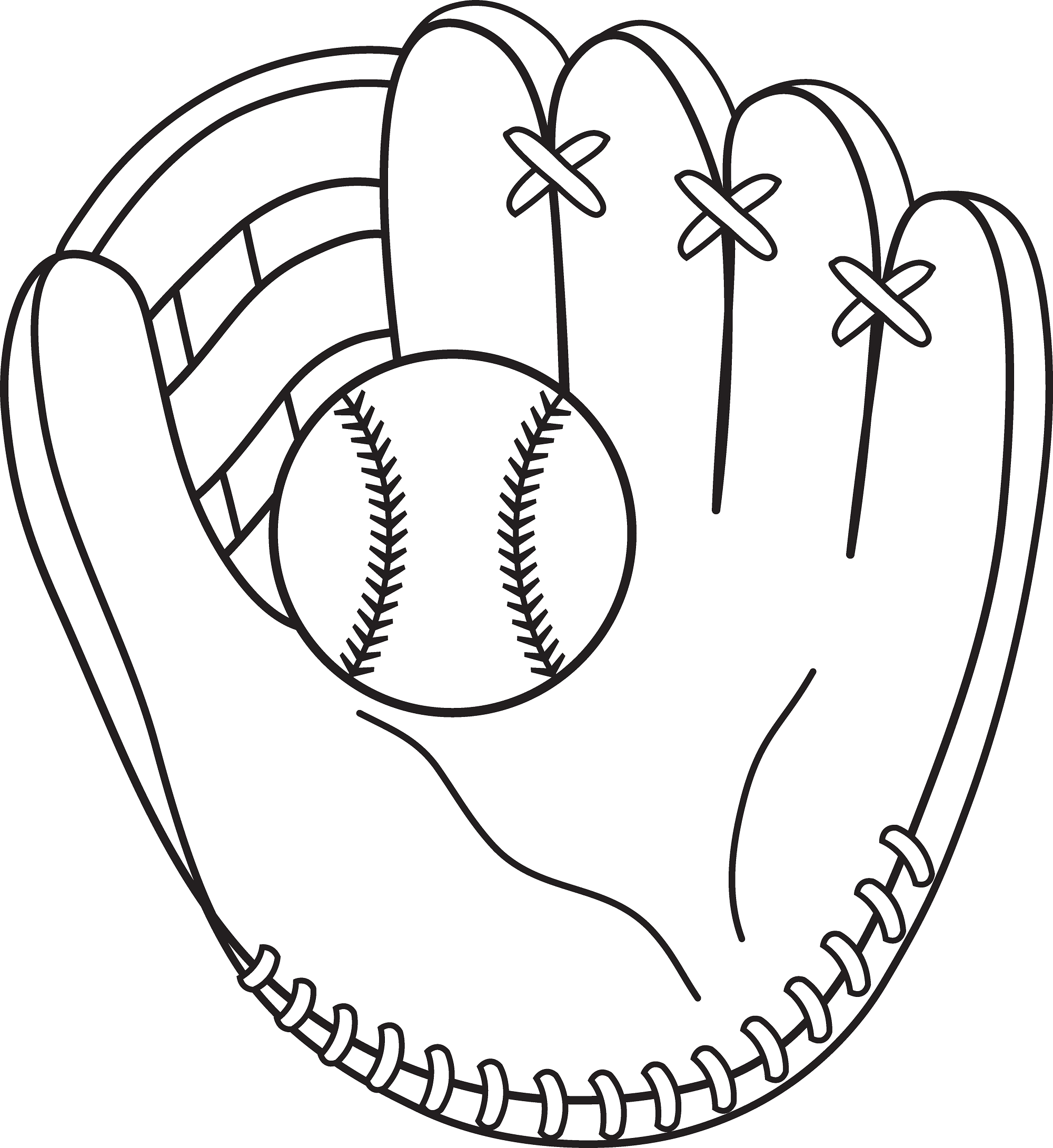 baseball-color-pages-simple