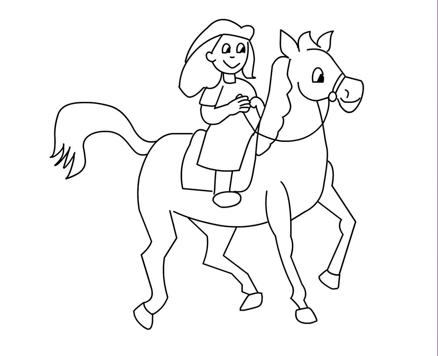color-pages-of-horses-for-kids