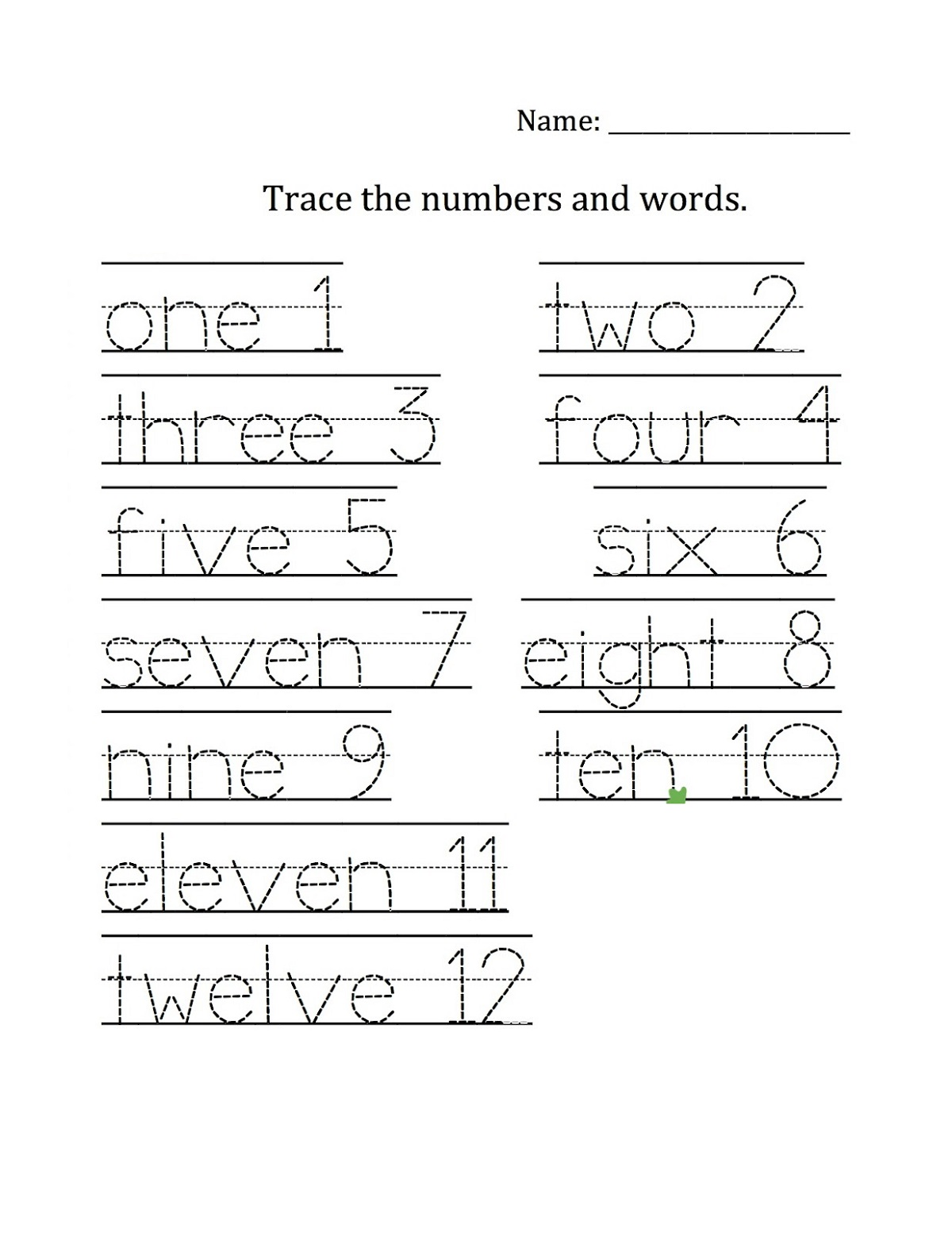 number-names-worksheet-fun