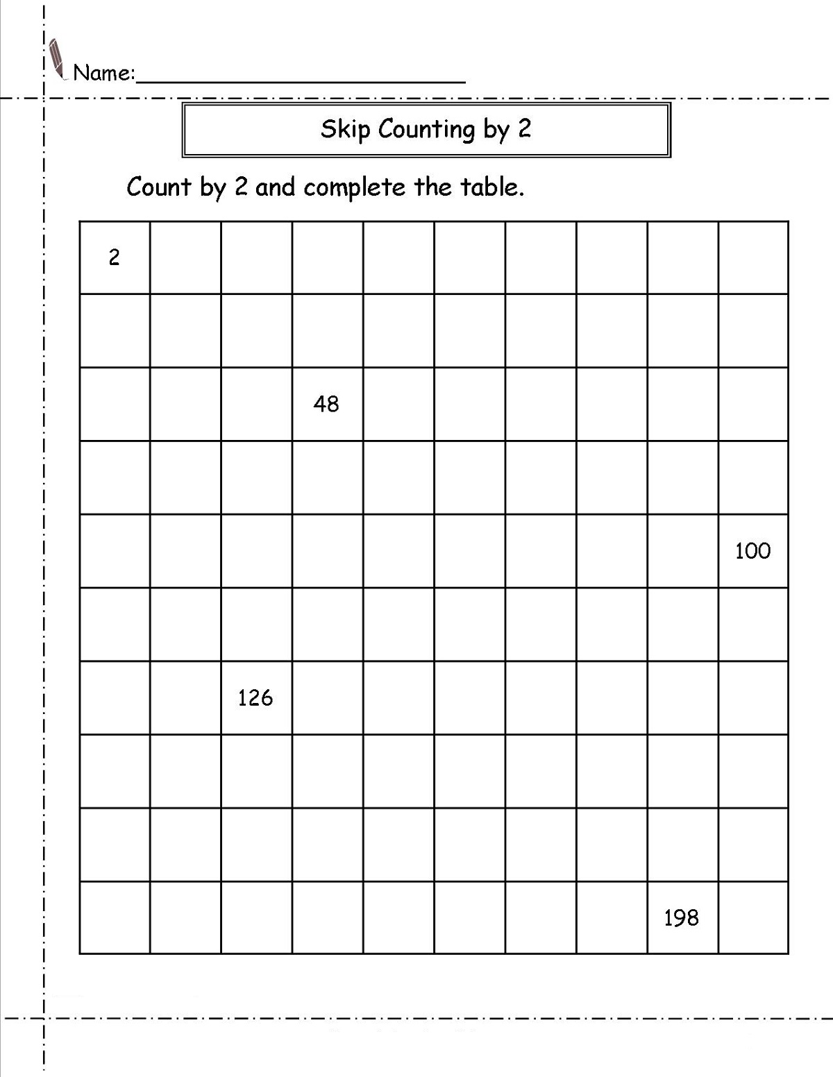 skip-count-by-2-worksheet-easy