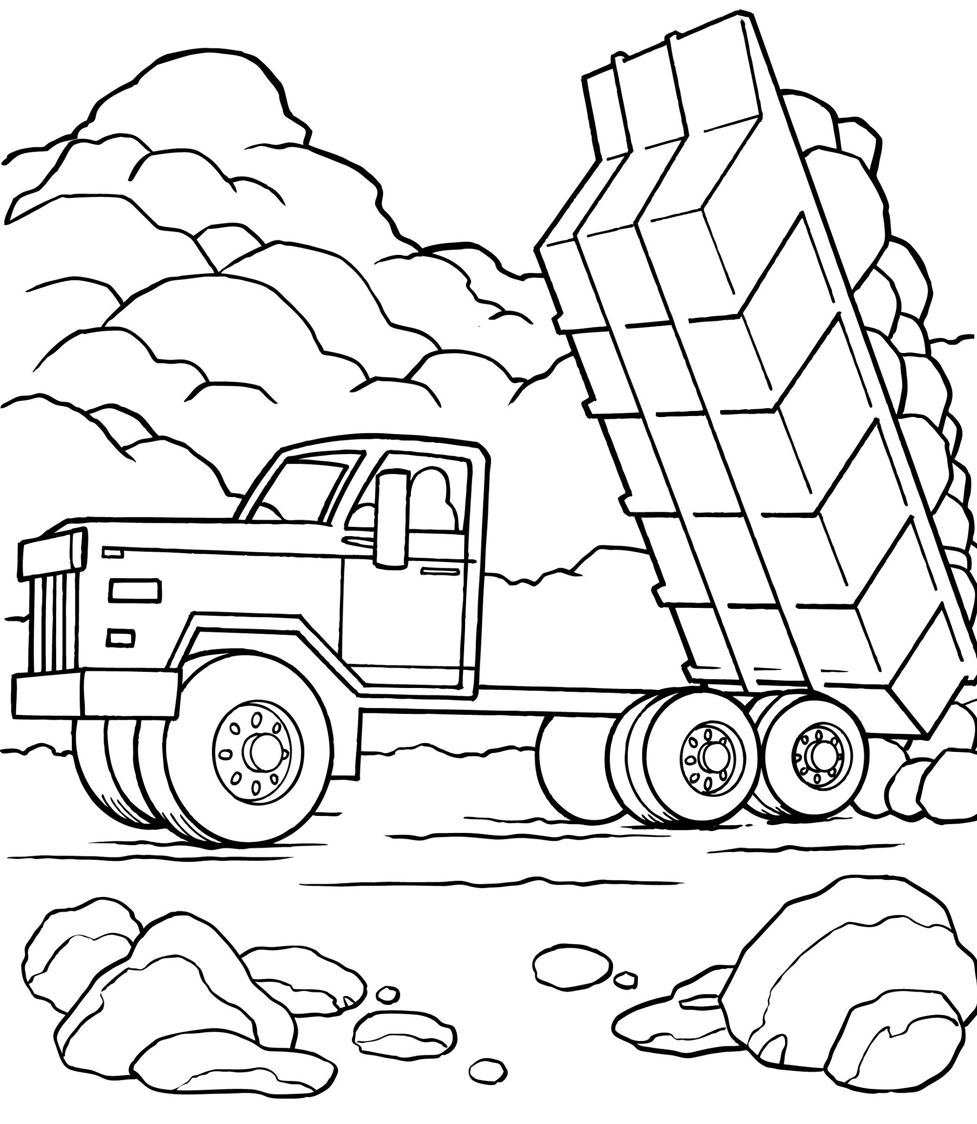 truck-color-pages-activity