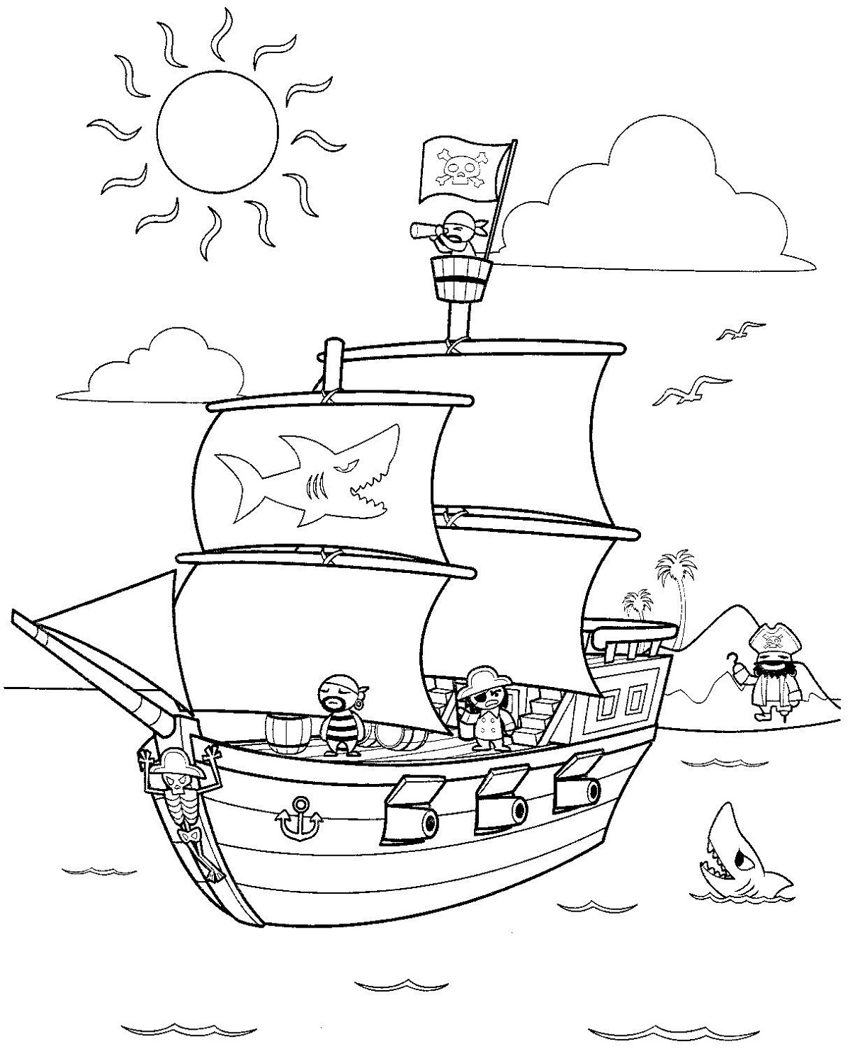 pirate-color-pages-activity