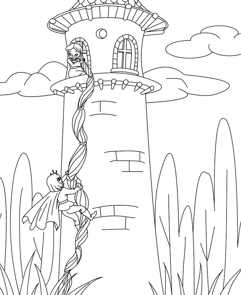 rapunzel-color-pages-activity
