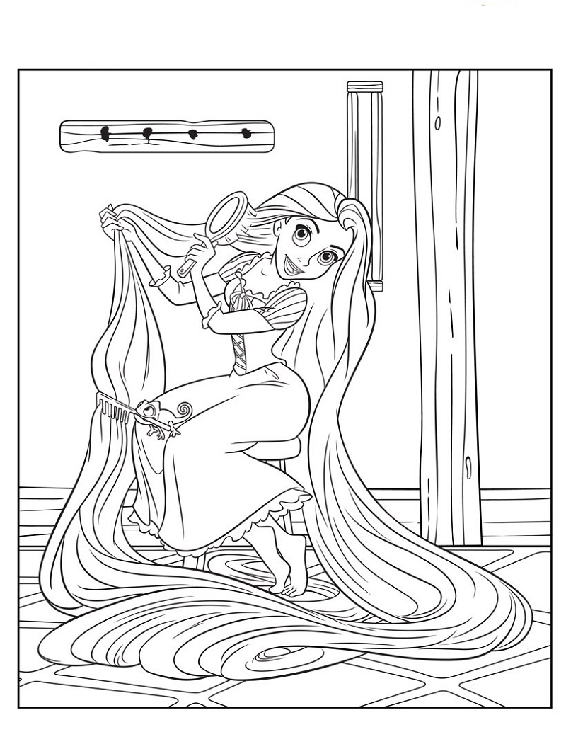 rapunzel-color-pages-practice