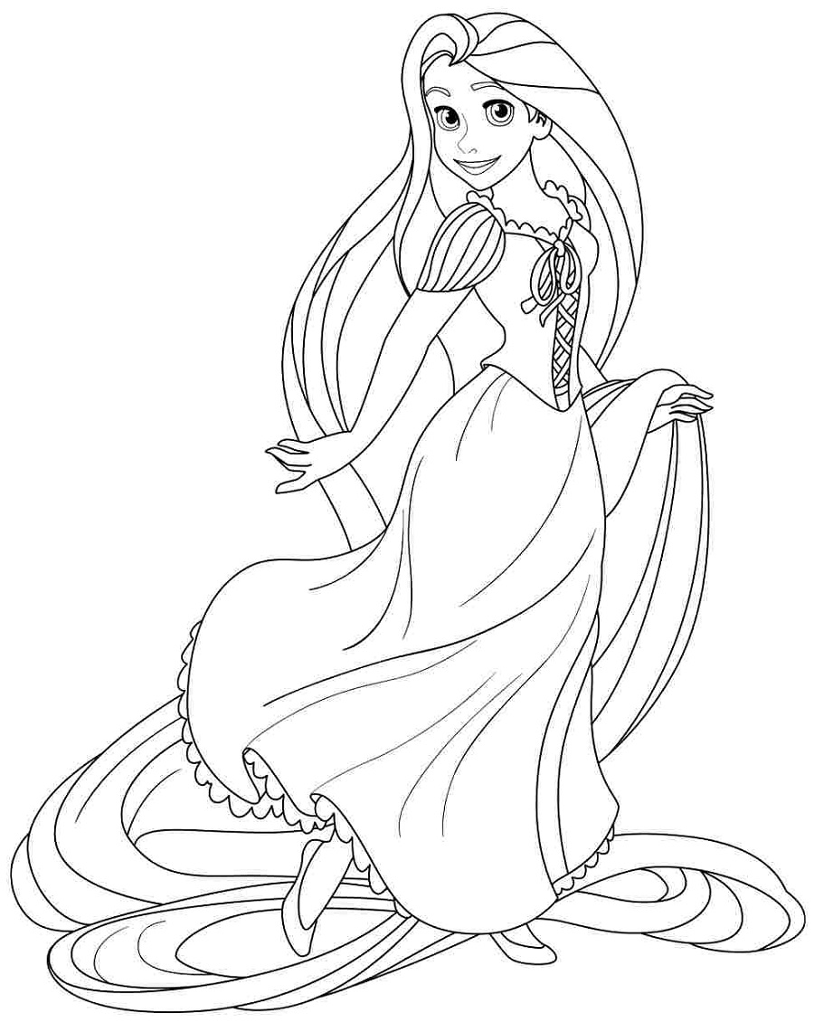 rapunzel-color-pages-printable