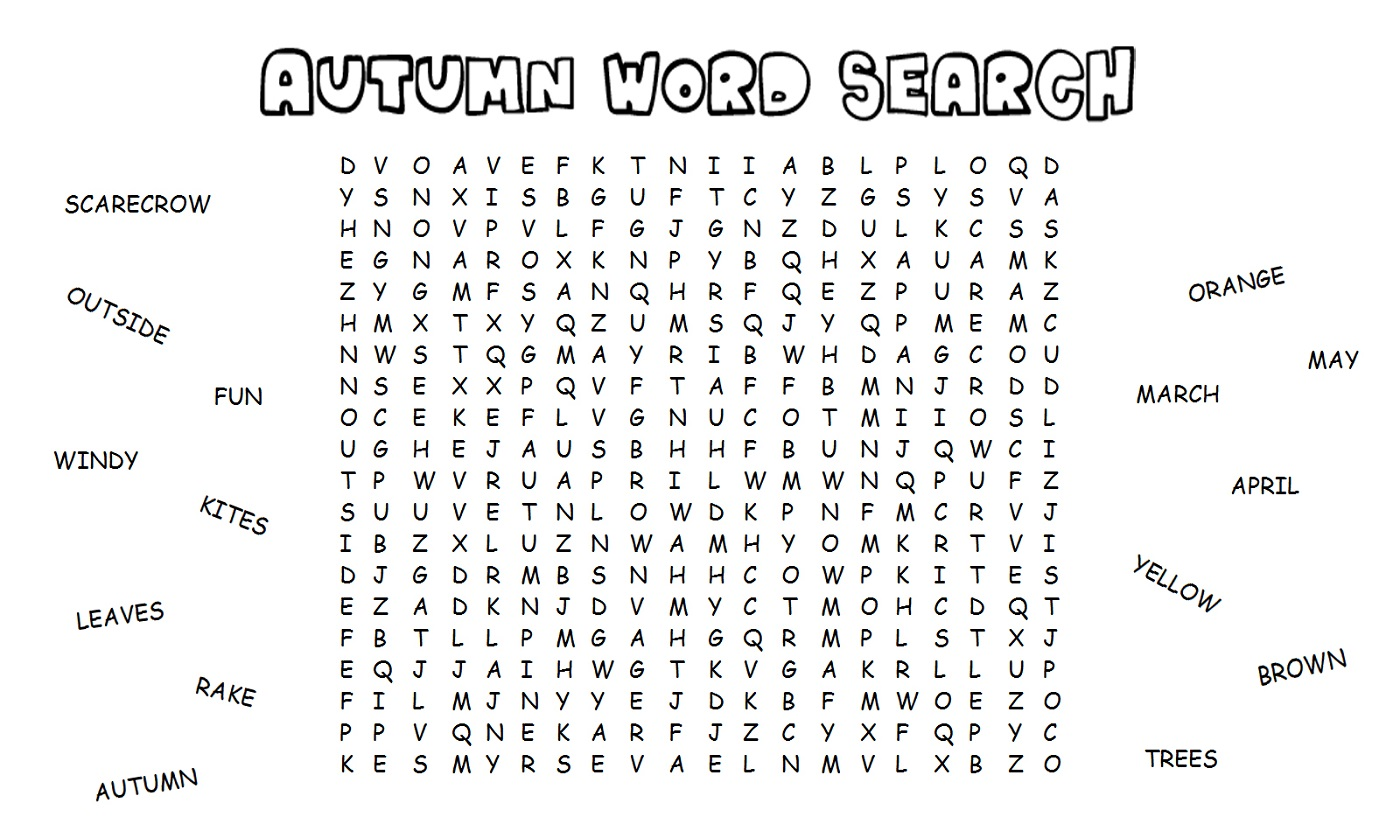 word-search-worksheet-easy