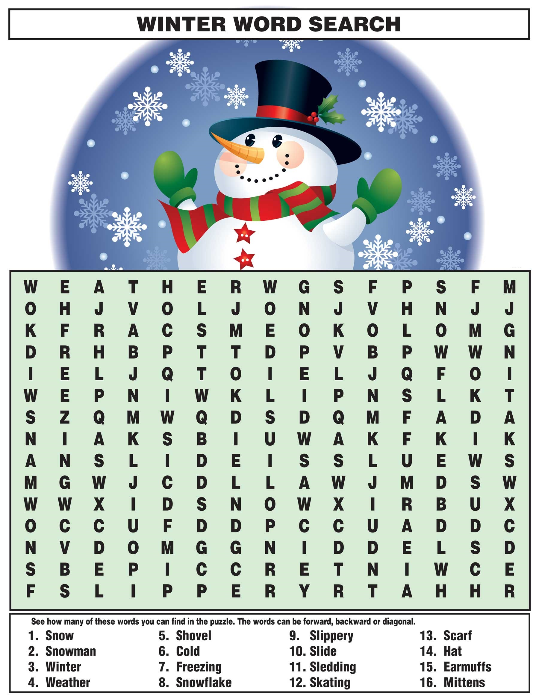 childrens word search activity