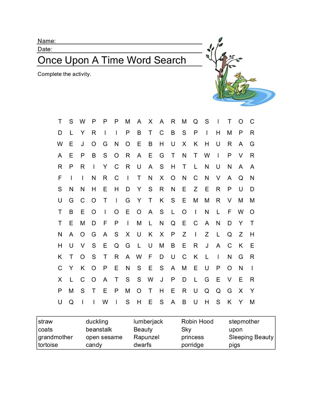 fairy-tale-word-search-practice