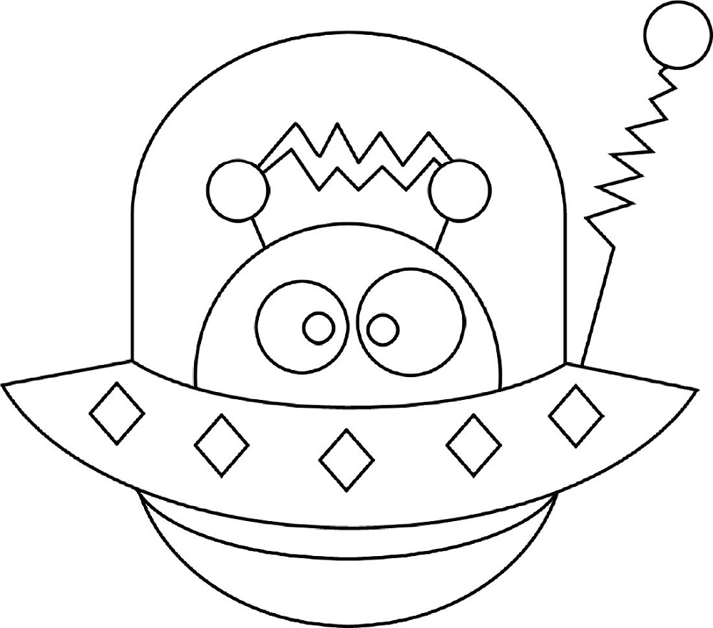 alien pictures for kids coloring