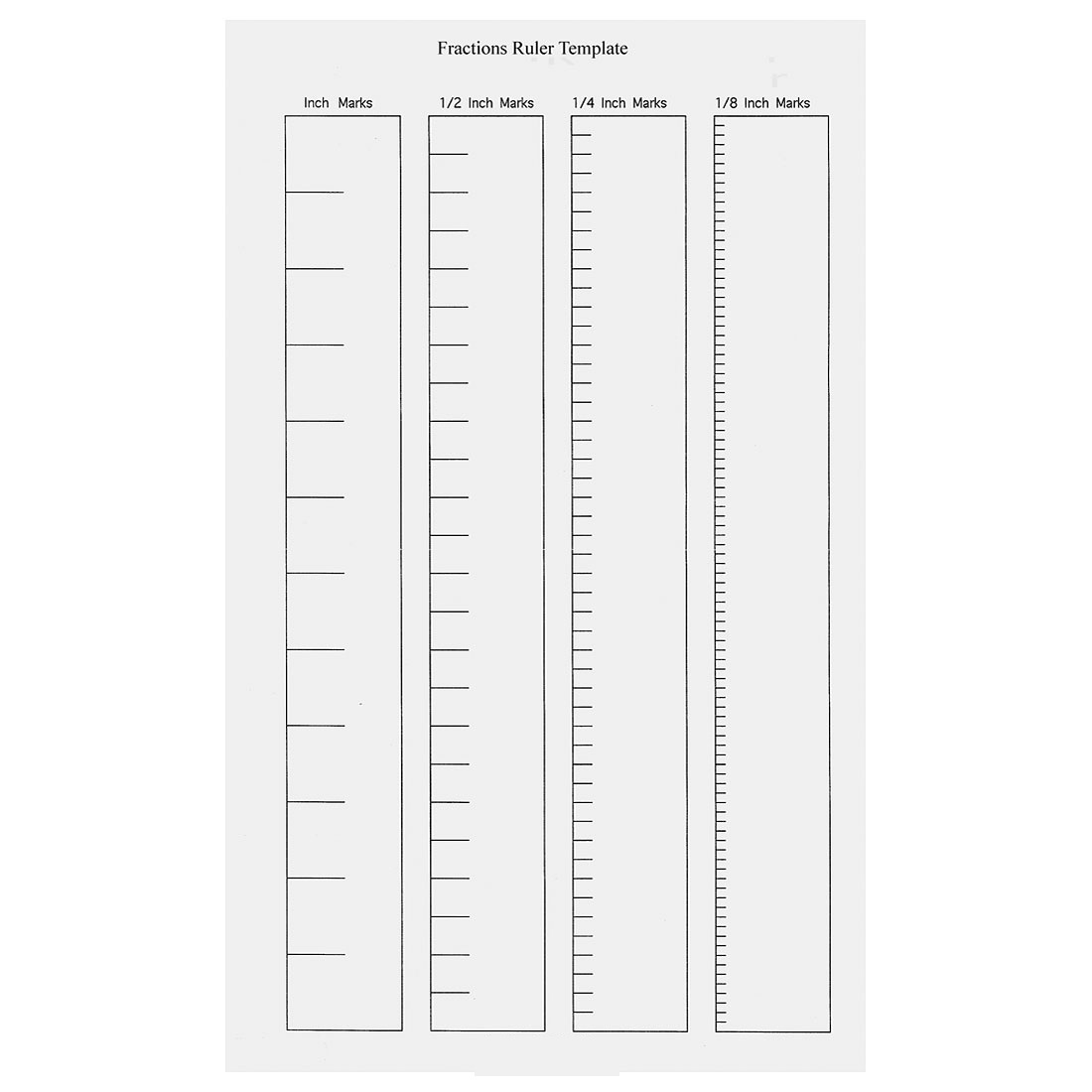 blank ruler template page