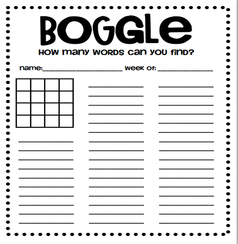 boggle word game page