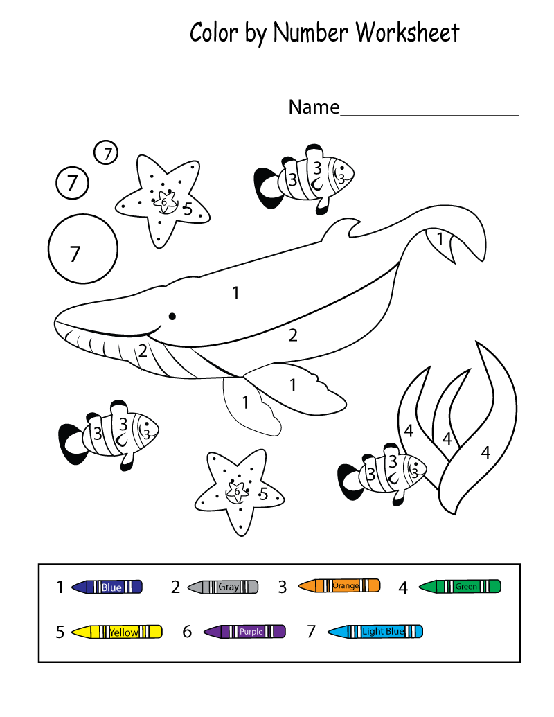 color by numbers worksheets fun