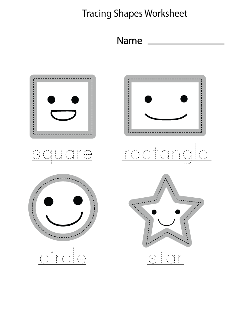 free shape worksheets for kids
