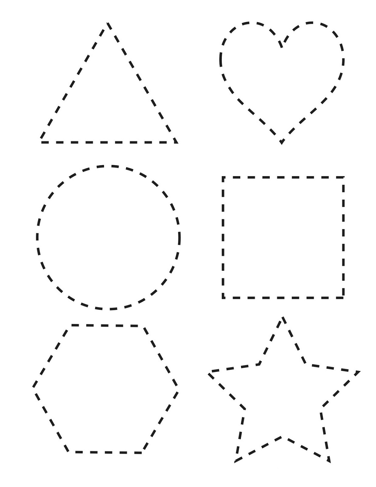free shape worksheets printable