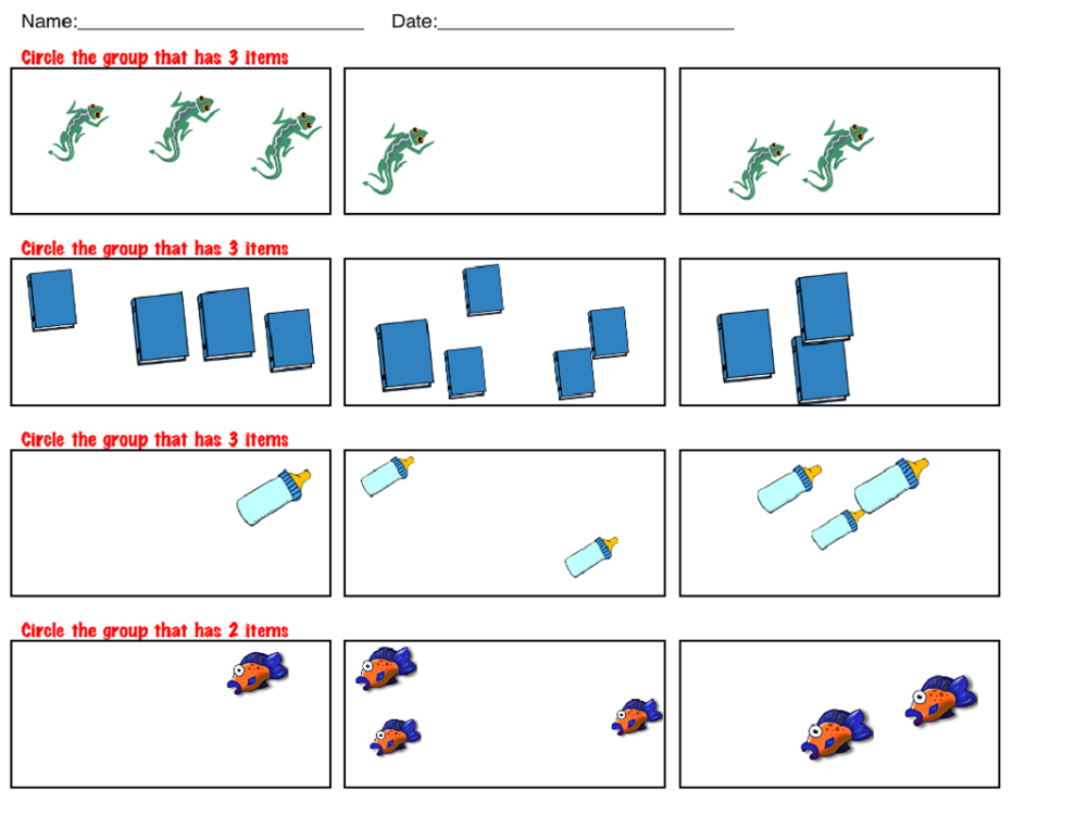 more less worksheets activity