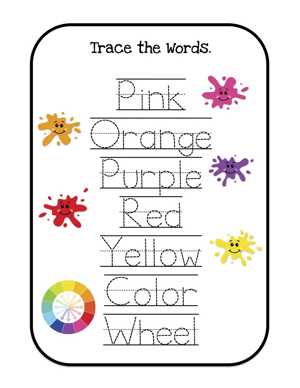 name trace worksheets fun