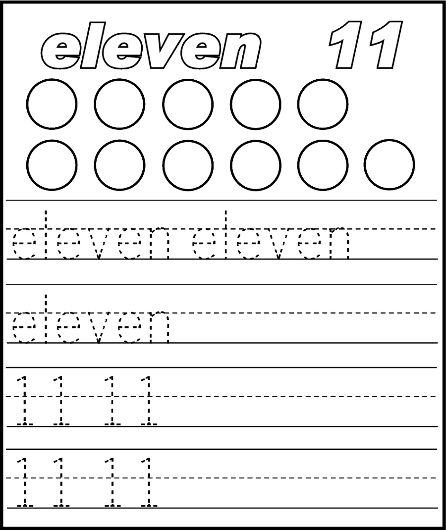 number 11 worksheet activity
