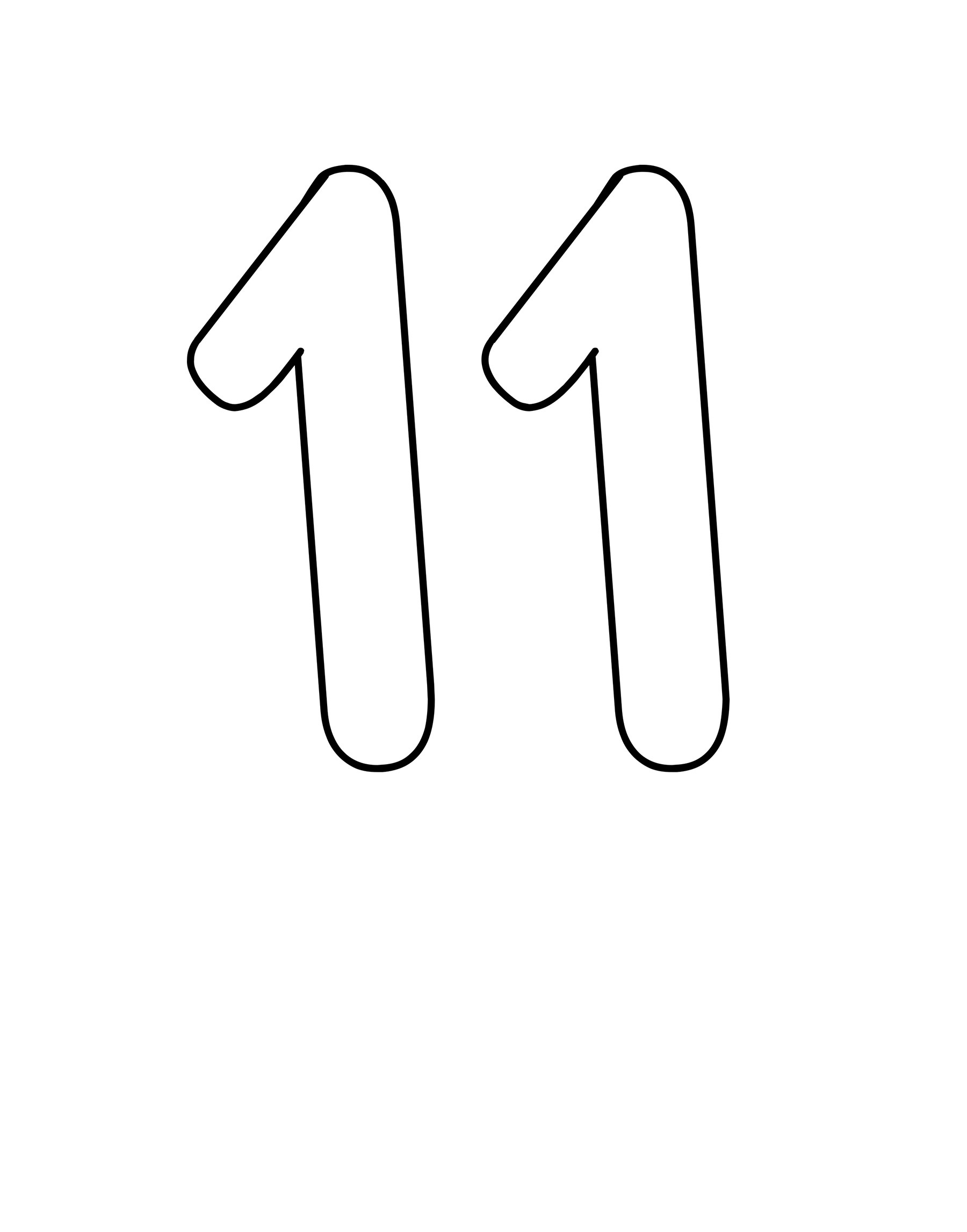 number 11 worksheet coloring