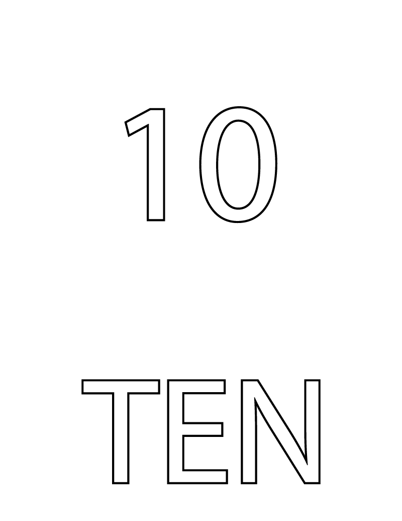 picture of number 10 card
