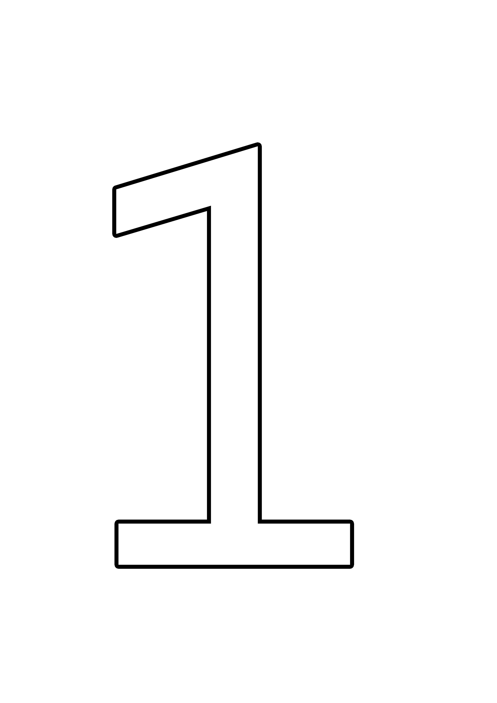 picture of the number 1 printable