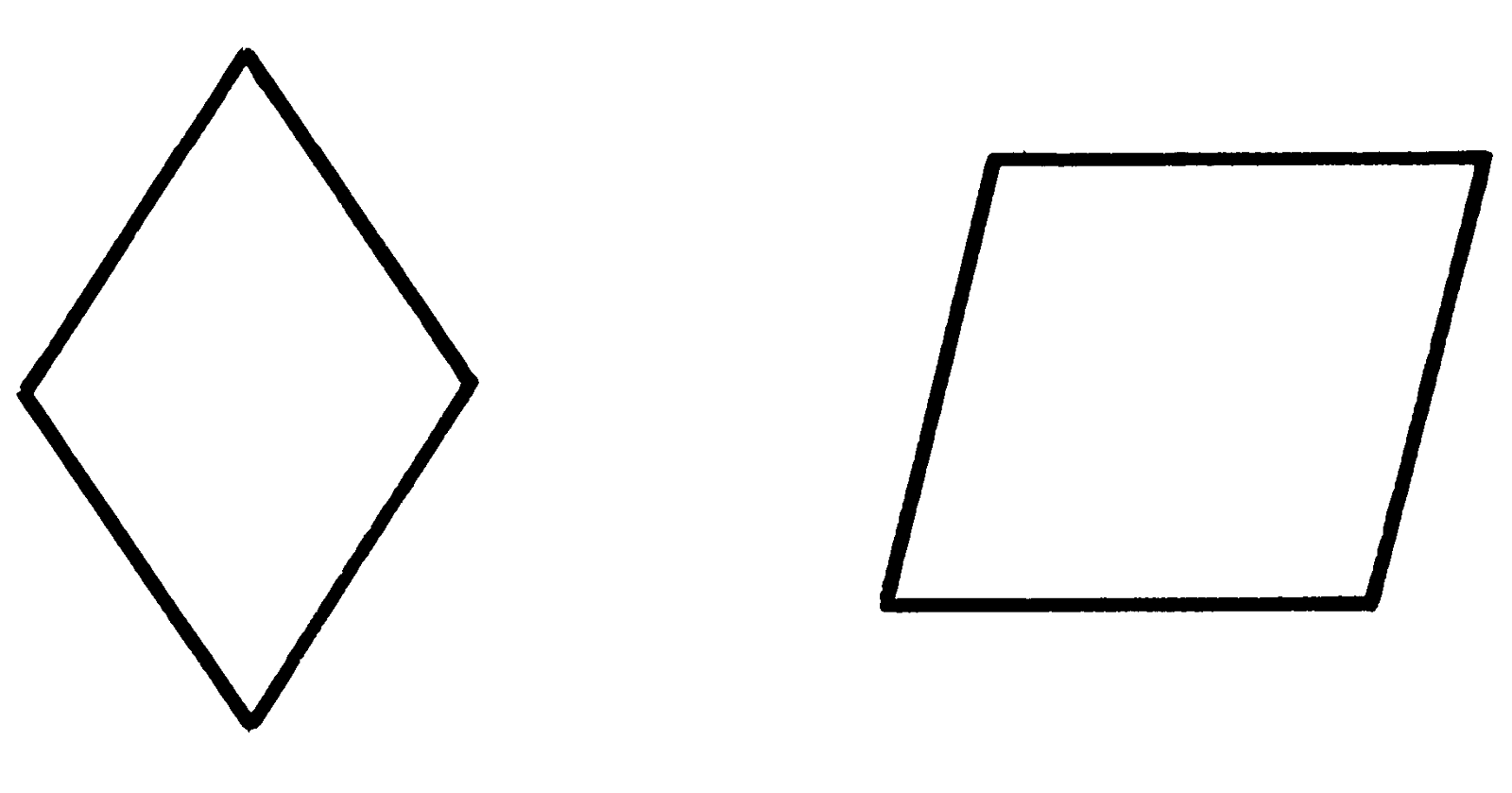 pictures of rhombus shapes patterns