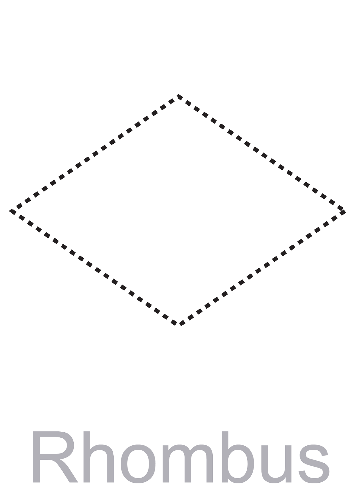 pictures of rhombus shapes traceable