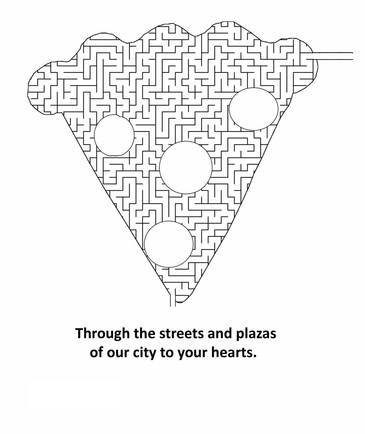 pizza maze for kids activity
