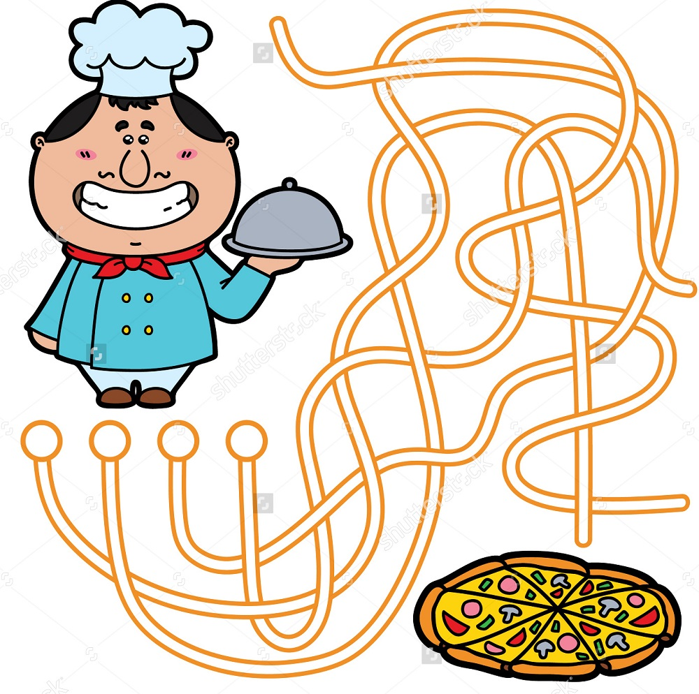 pizza maze for kids fun