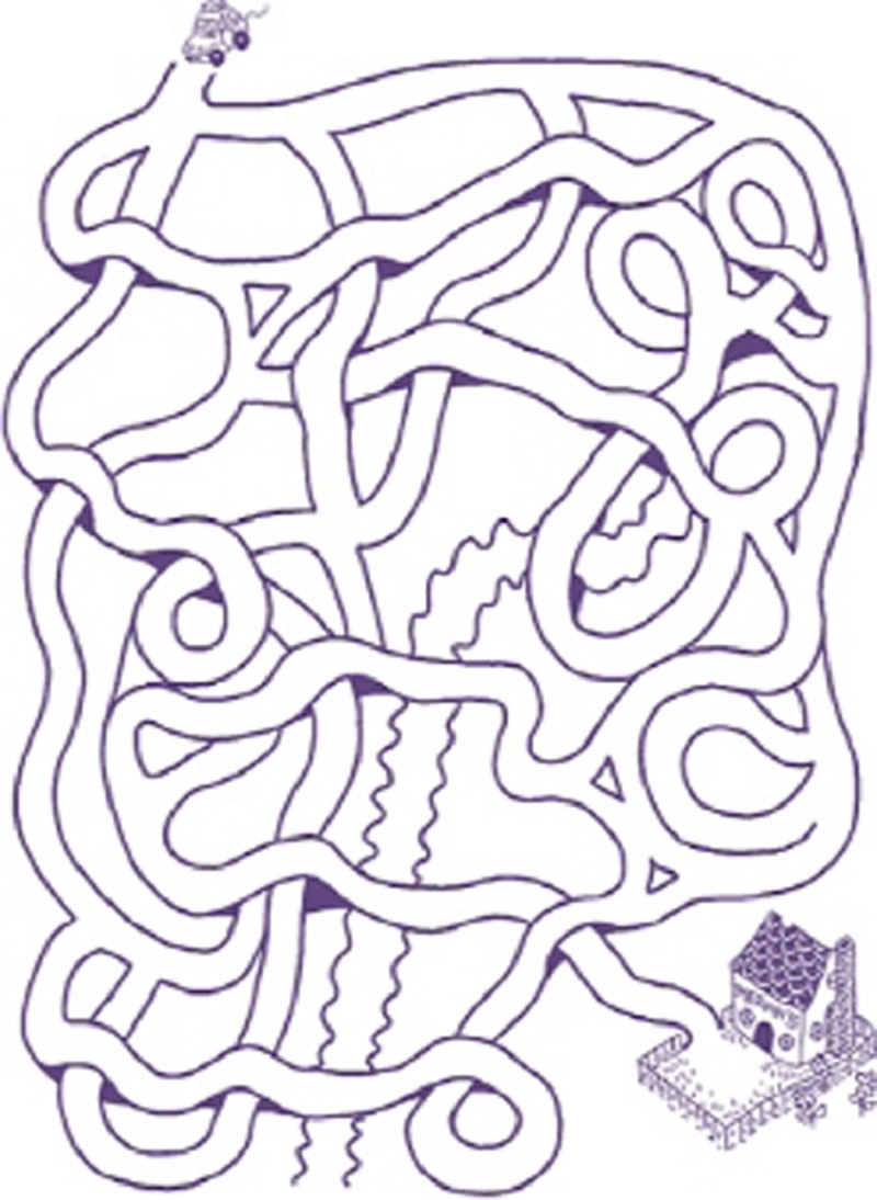 pizza maze for kids page