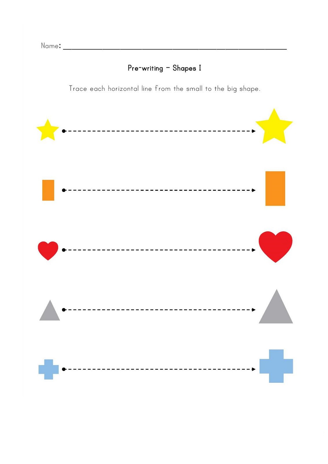pre k shapes worksheets easy