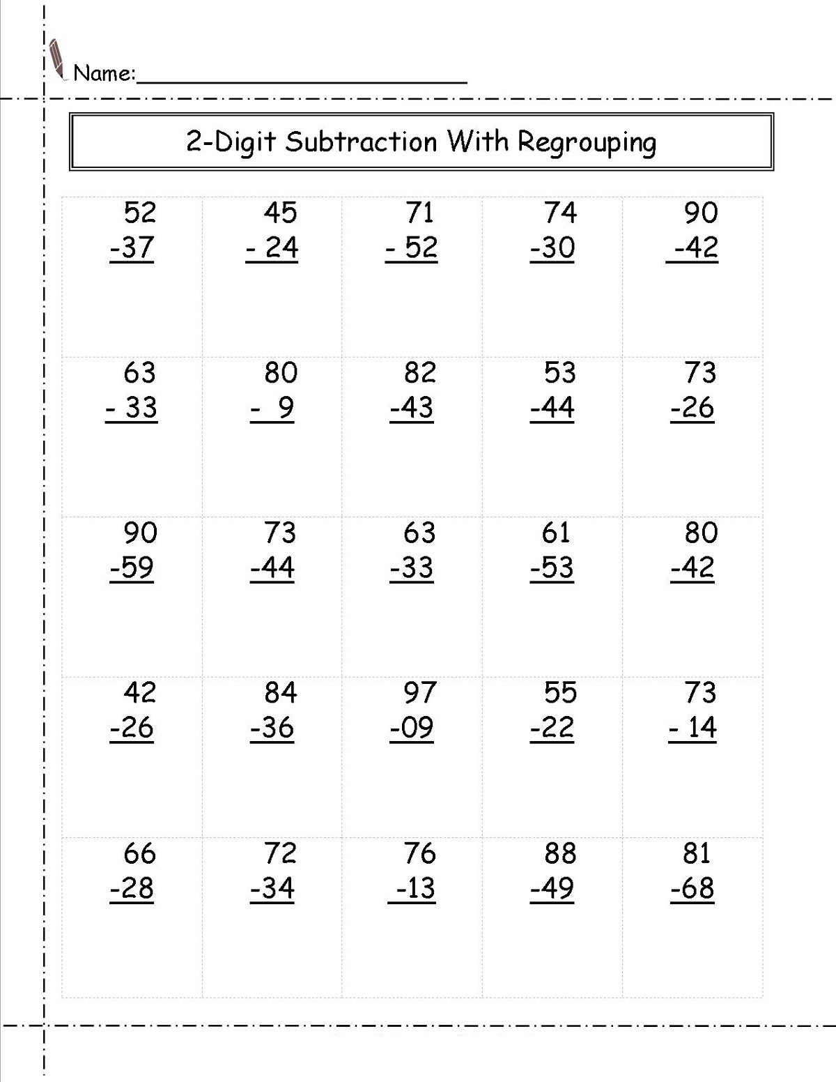 two digit math worksheets 2nd grade