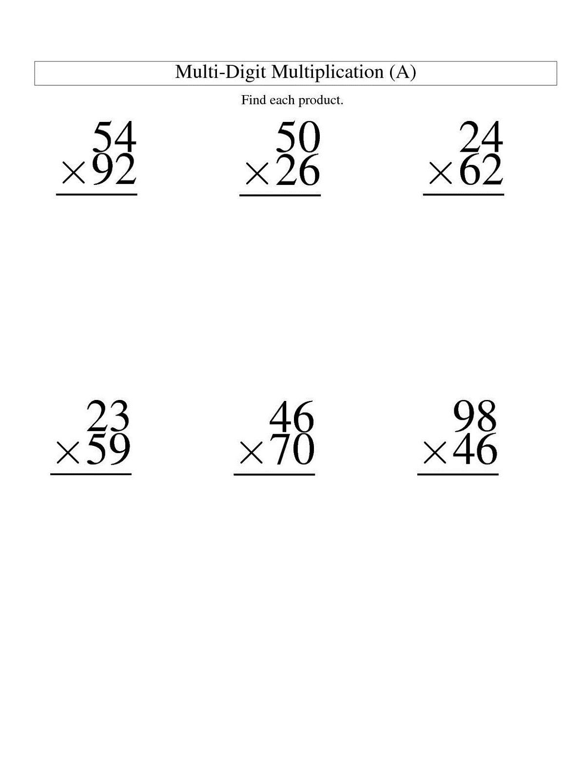 two digit math worksheets practice