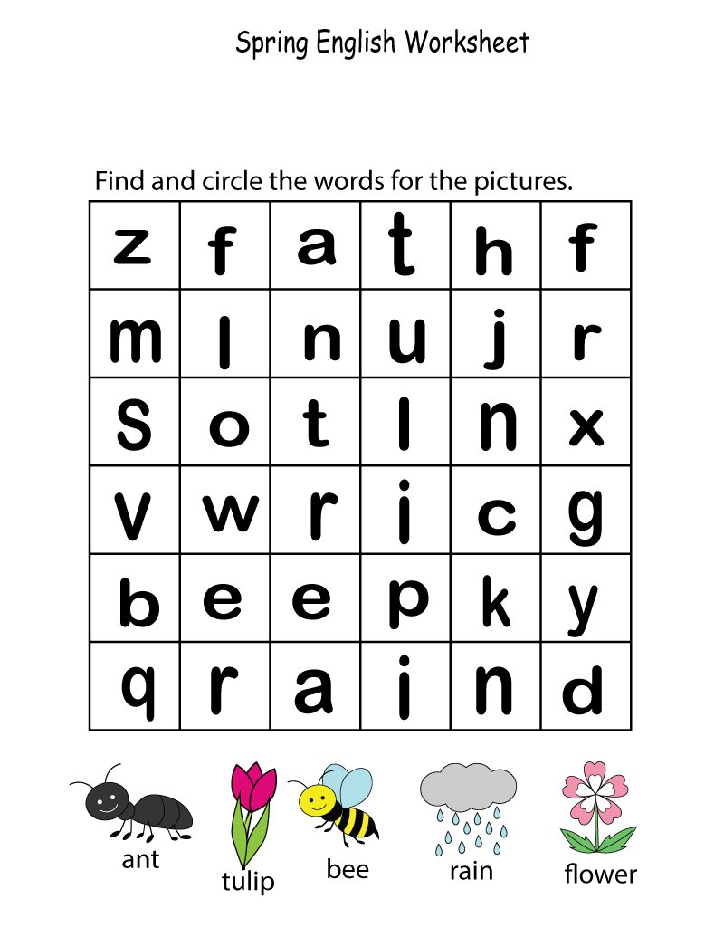 activity pages for kids practice