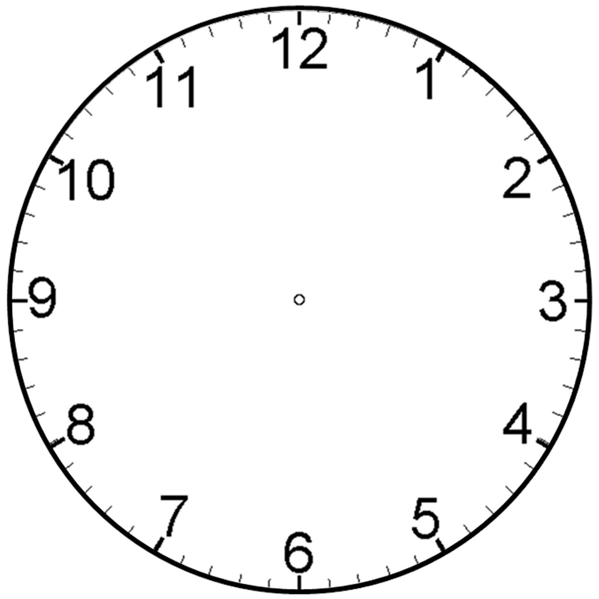 clock face template image