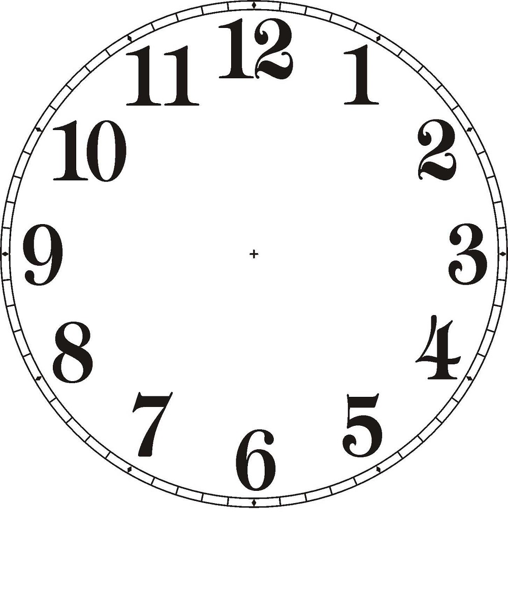 clock face template printable