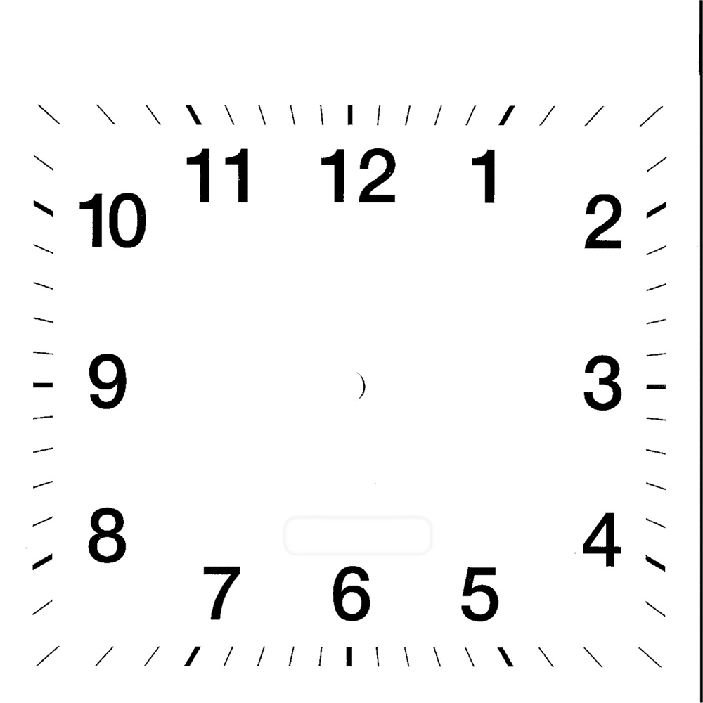 clock face template square