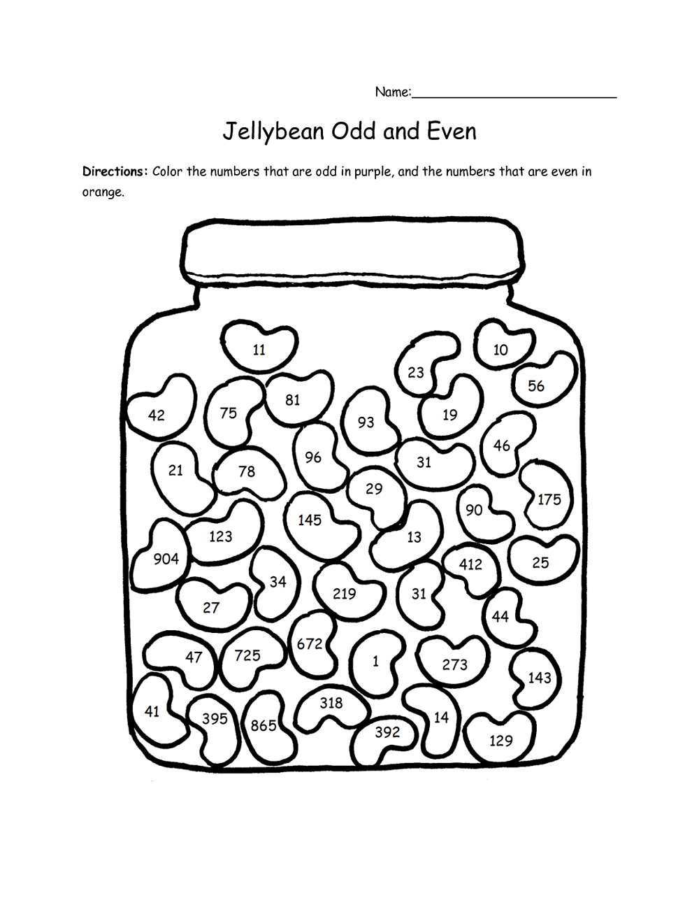 even and odd worksheets for kids