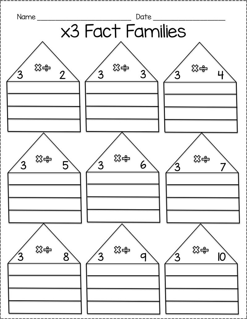 fact family practice printable
