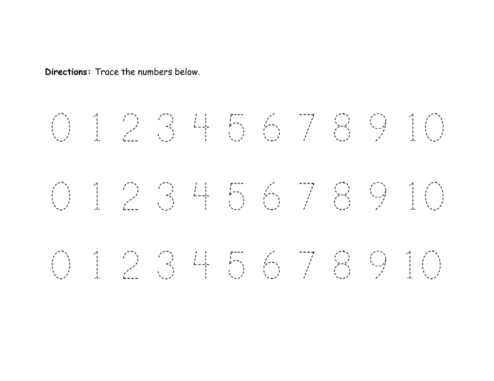 free number tracer practice