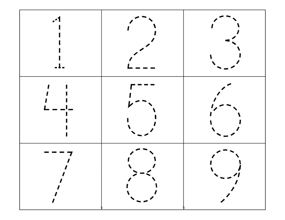 free number tracer printable