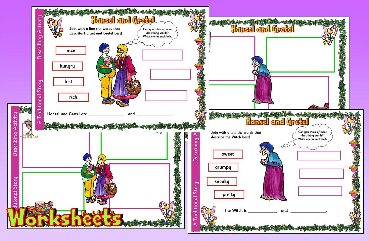 hansel and gretel worksheets activity