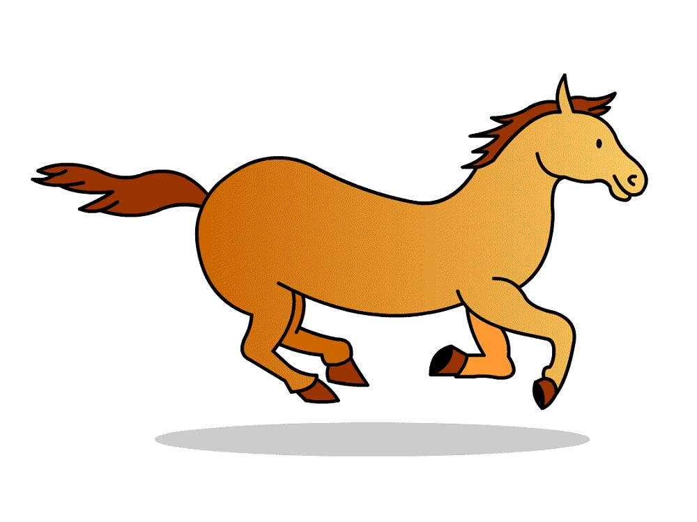 horse pictures for kids cartoon