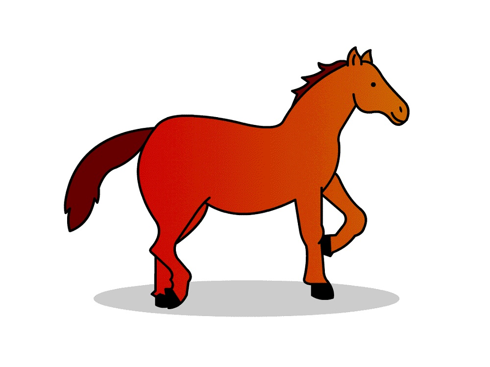 horse pictures for kids simple