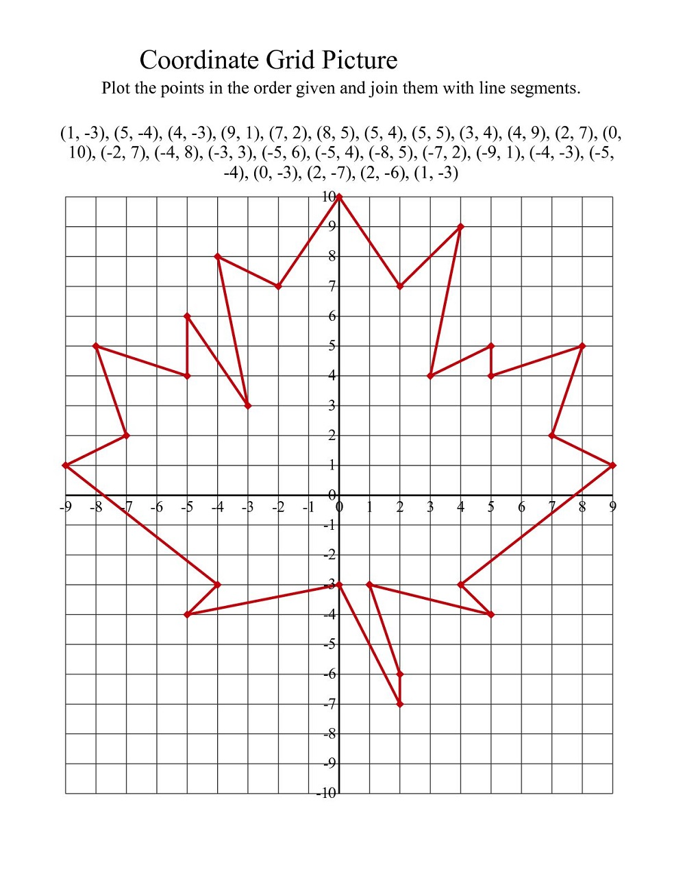 math grids worksheets page