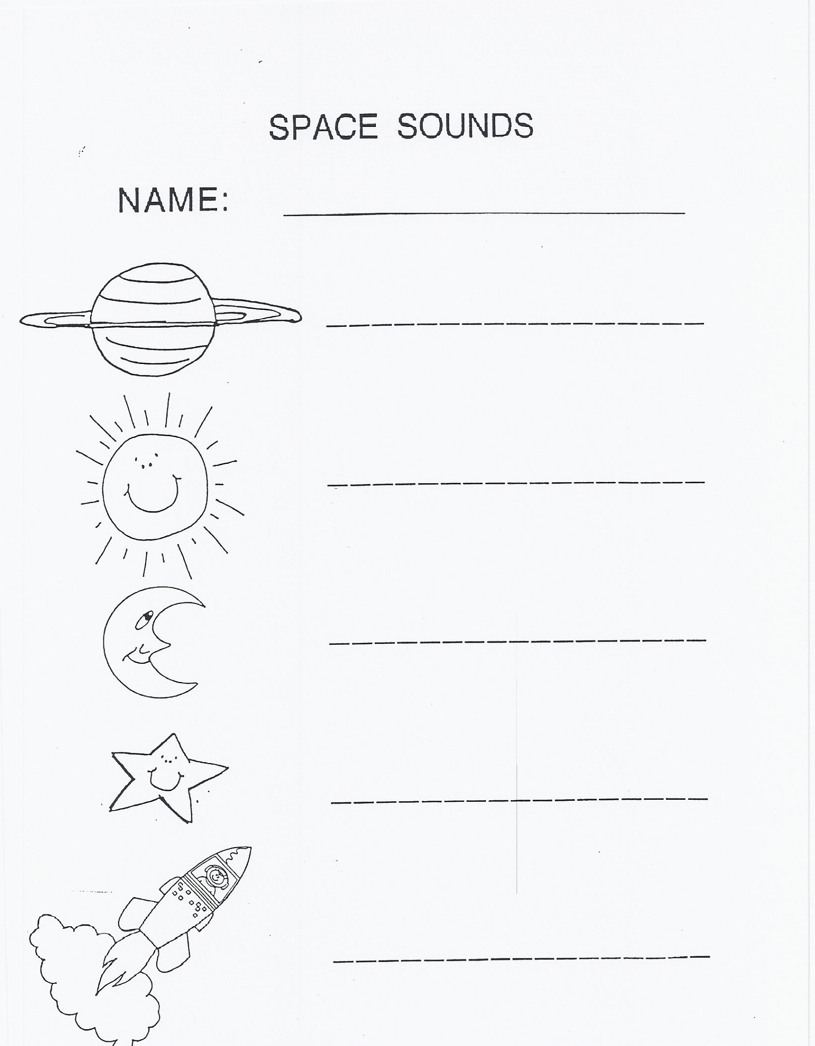 outer space worksheets for kids printable