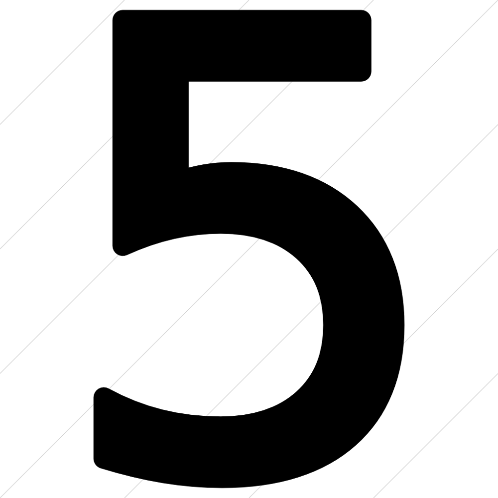 picture of the number 5 printable