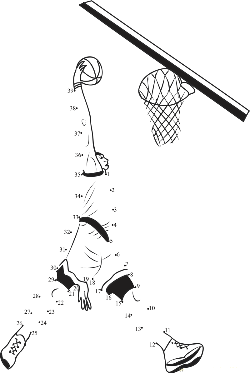 sports worksheets for kids dot to dot